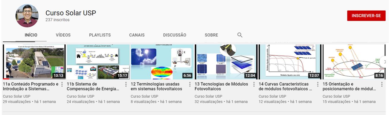 Vídeo aulas dos cursos de energia solar estão disponíveis na web