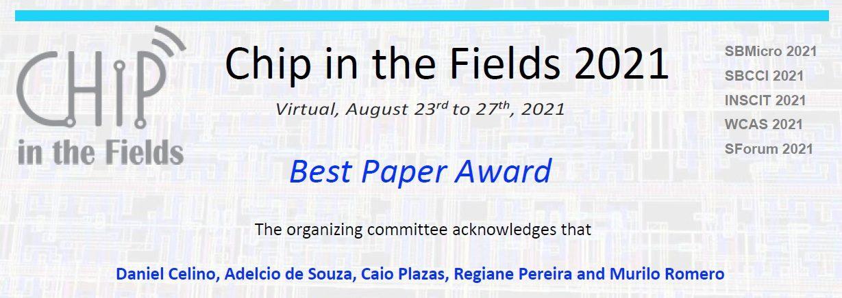 É do SEL o melhor paper apresentado no Chip in the Fields 2021